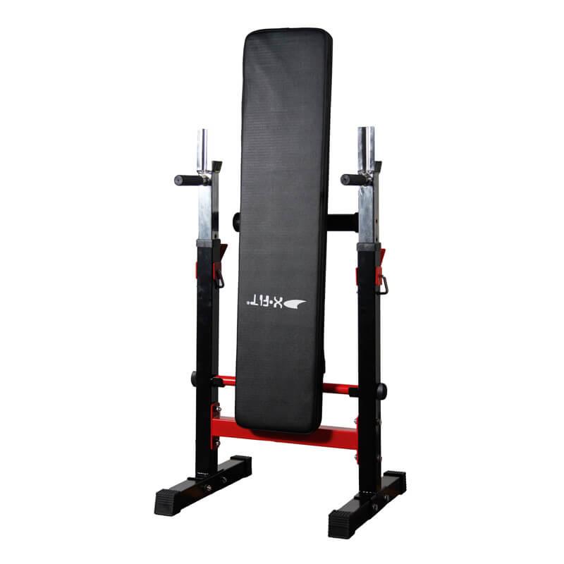 Πάγκος Γυμναστικής Οριζόντιος με Ορθοστάτες, Αναδιπλούμενος X-FIT 89
